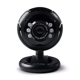 Webcam Multilaser 16mp Night Vision Led WC045 USB Preta