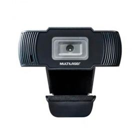 Webcam Multilaser HD 720p 30fps Office AC339 USB Preta