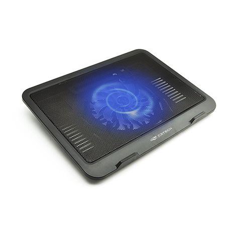 "Base Notebook C3Tech  NBC-11BK 14"" Preto USB 2.0 Fan 140mm Leds Azul"