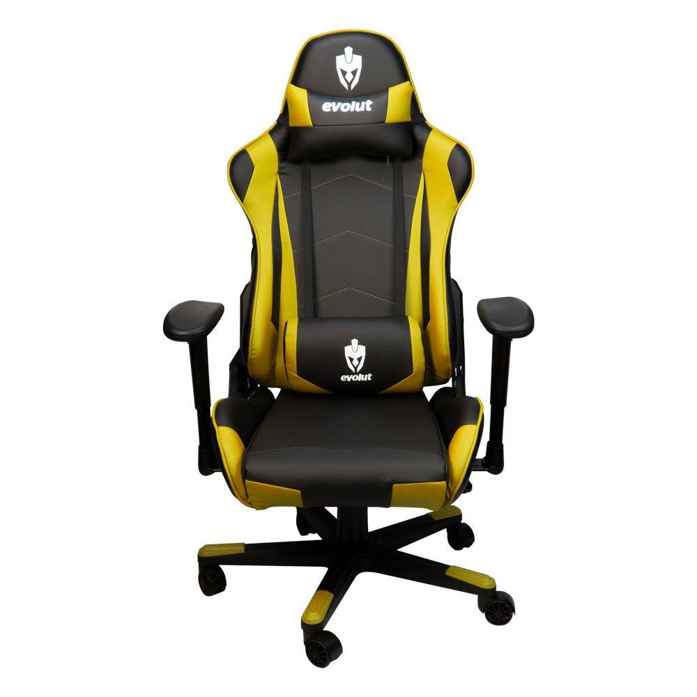 Cadeira Evolut Racing EG-900 Amarelo