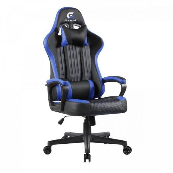 Cadeira Gamer Vickers Preta/Azul FORTREK