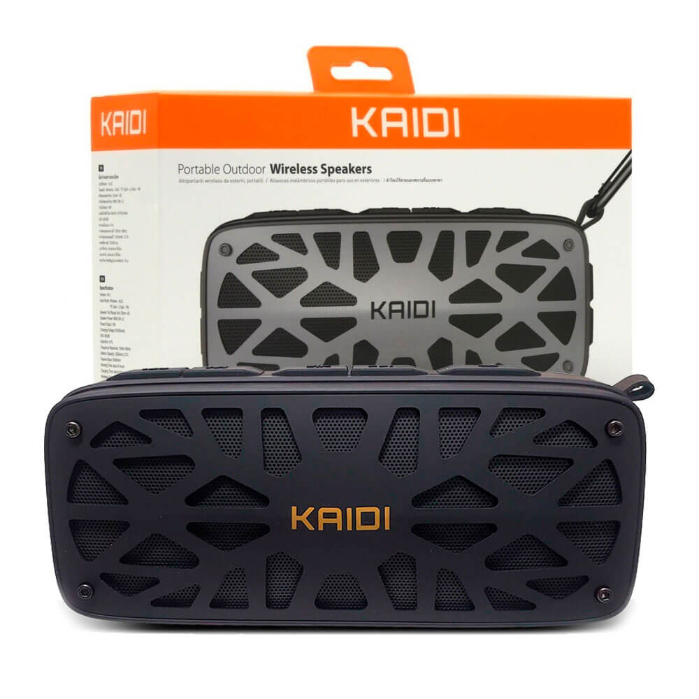 Caixa De Som Portatil Kaidi Kd812 Wireless Speakers