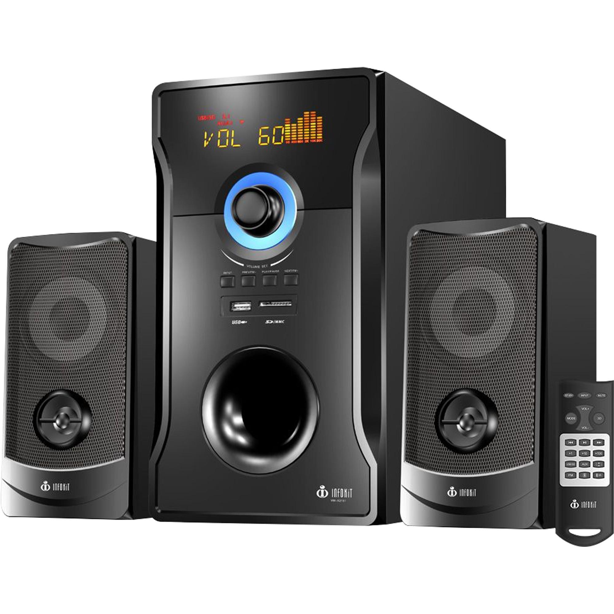Caixa de Som Speakers Bluetooth com Subwoofer VM-X2151 Preta