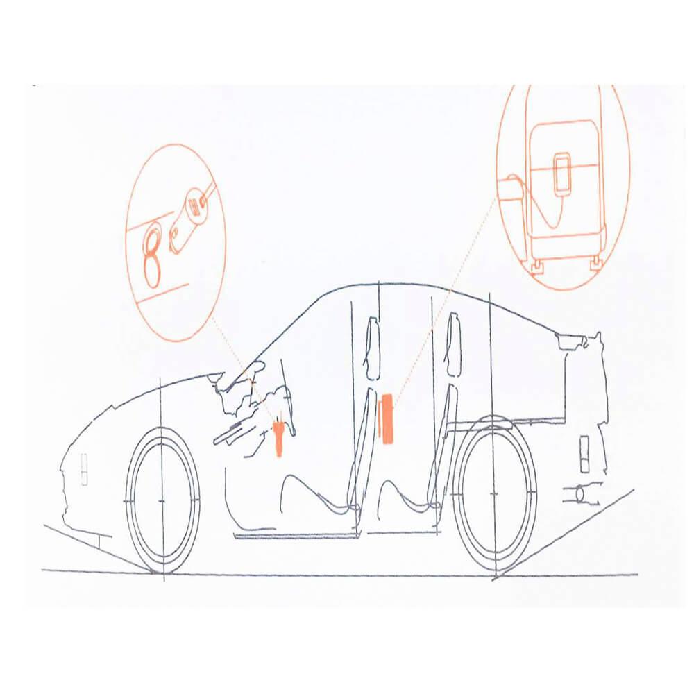 Carregador Veicular KAIDI 120CM Preto USB 5.1a KD-401