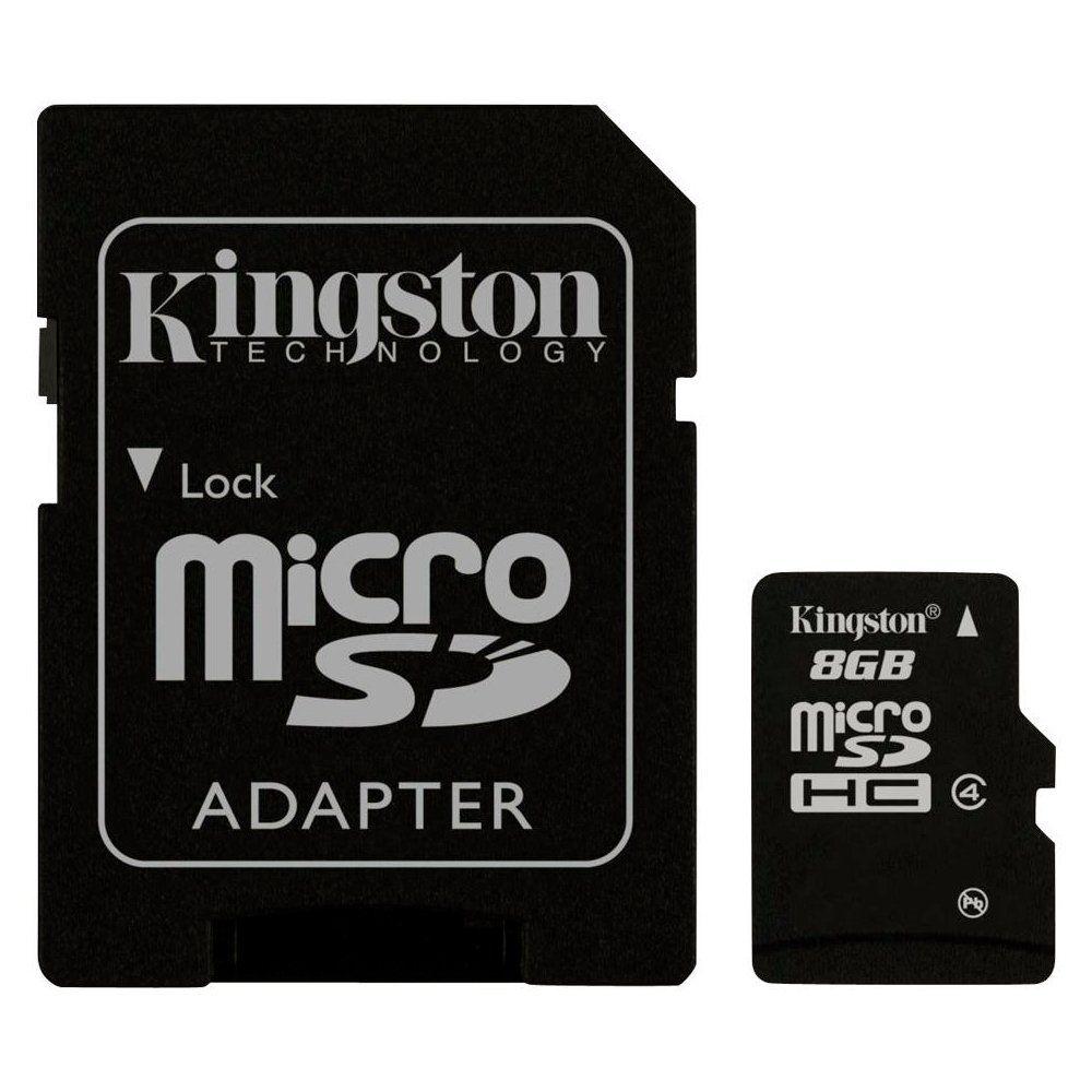 Cartão de Memoria Kingston SDC4/8GB Micro c/ 1 Adaptador SDC4/8GB