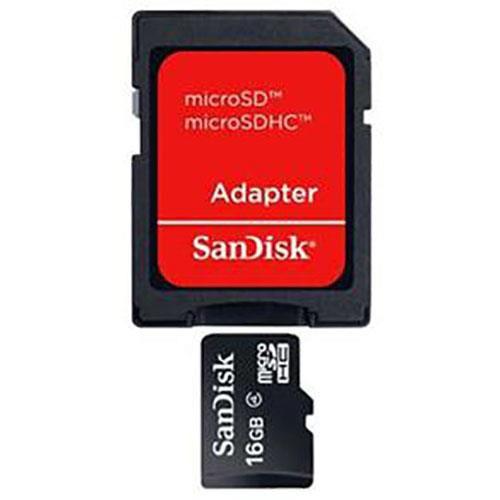 Cartão De Memória Sandisk Microsdhc Com Adaptador 16gb