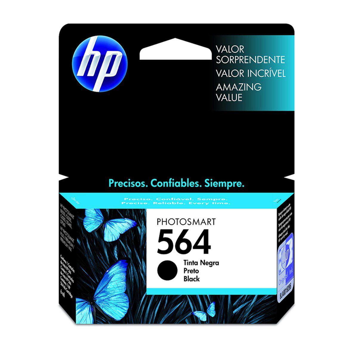 Cartucho de Tinta HP 564 Preto - CB316WL