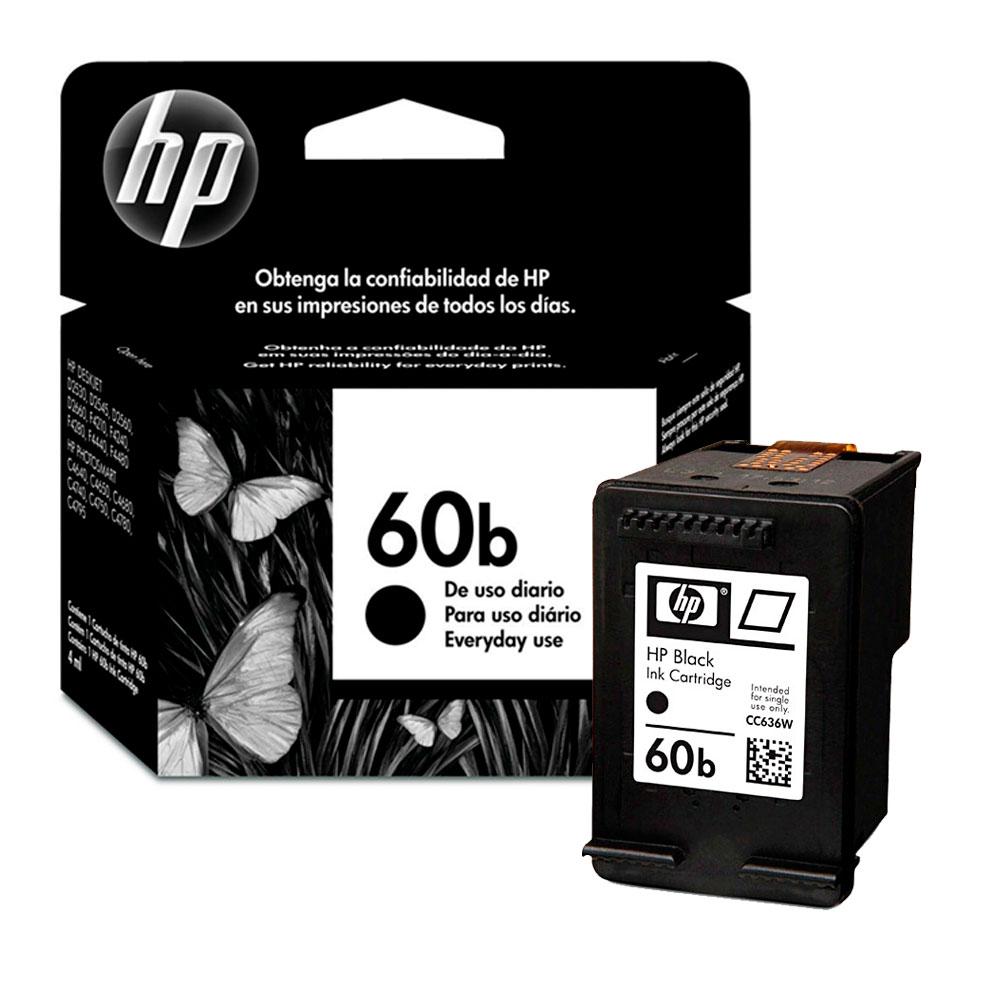 Cartucho De Tinta HP 60b Preto - CC363WB