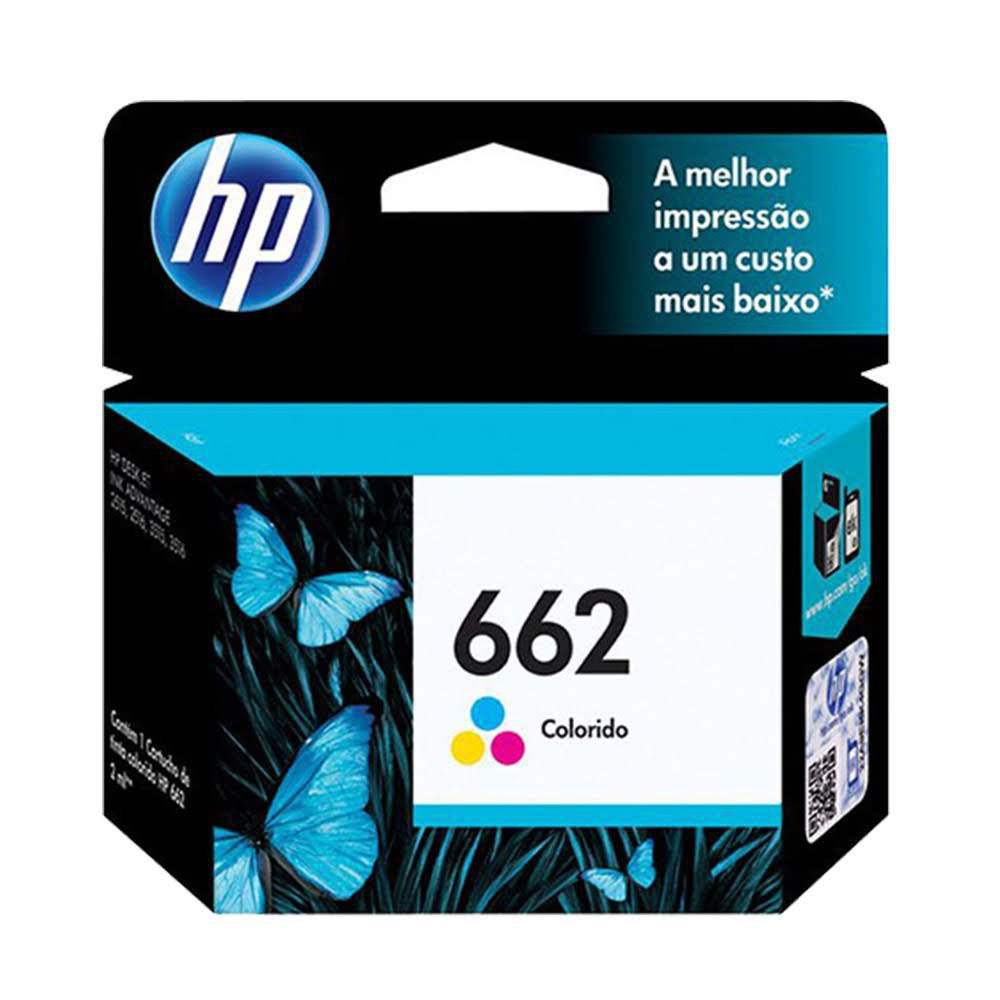 Cartucho de Tinta HP 662 Colorido CZ104AB