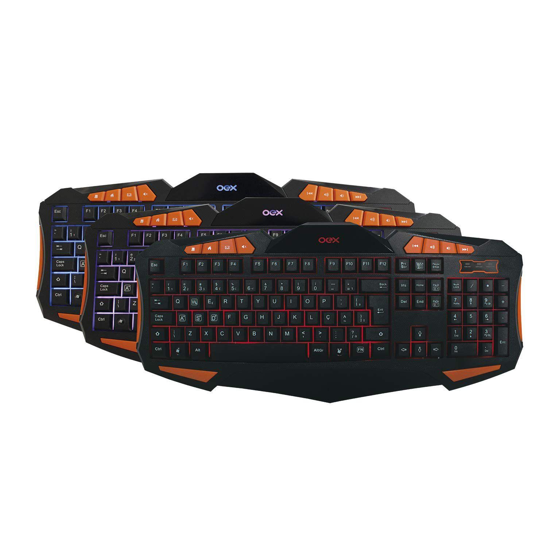 Combo Gamer Teclado e Mouse OEX Combo Gear TM301