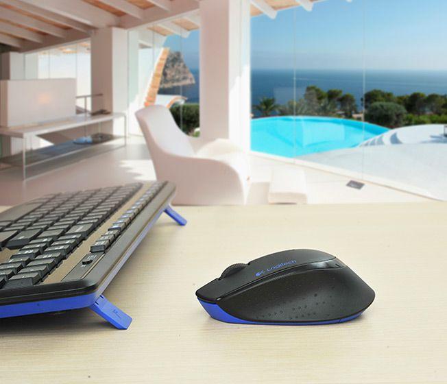 Combo Teclado e Mouse Logitech Wireless Multi MK345 Preto