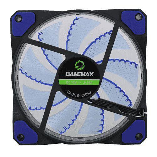 Cooler Gabinete Gamemax GF12B 120x120x25mm 32LEDs AZUL
