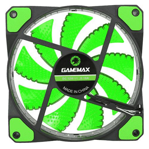 Cooler Gabinete Gamemax GF12G 120x120x25mm 32LEDs VERDE