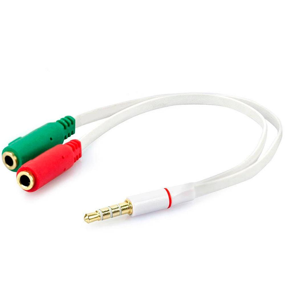 Kit Headset Evolut Têmis Vermelho + Cabo Adaptador