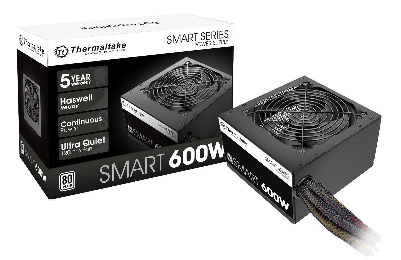 Fonte Thermaltake 600W TT SMART ATX2.3/A-PFC 80+ PS-SPD-0600NPCWUS-W