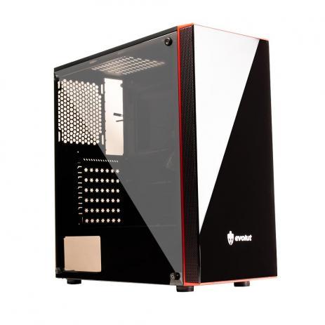 Gabinete Gamer Evolut EG-803 Ray Plus Preto