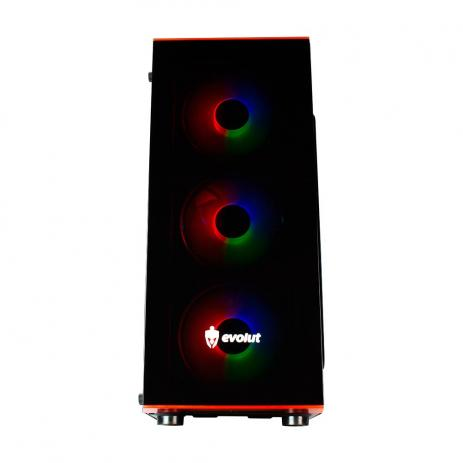 Gabinete Gamer Evolut EG-803 Ray Plus Preto