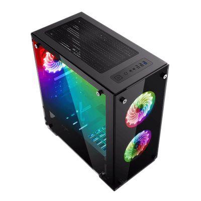 Gabinete Gamer Gamemax H605-TA 3 Fans Leds RGB C/Controle