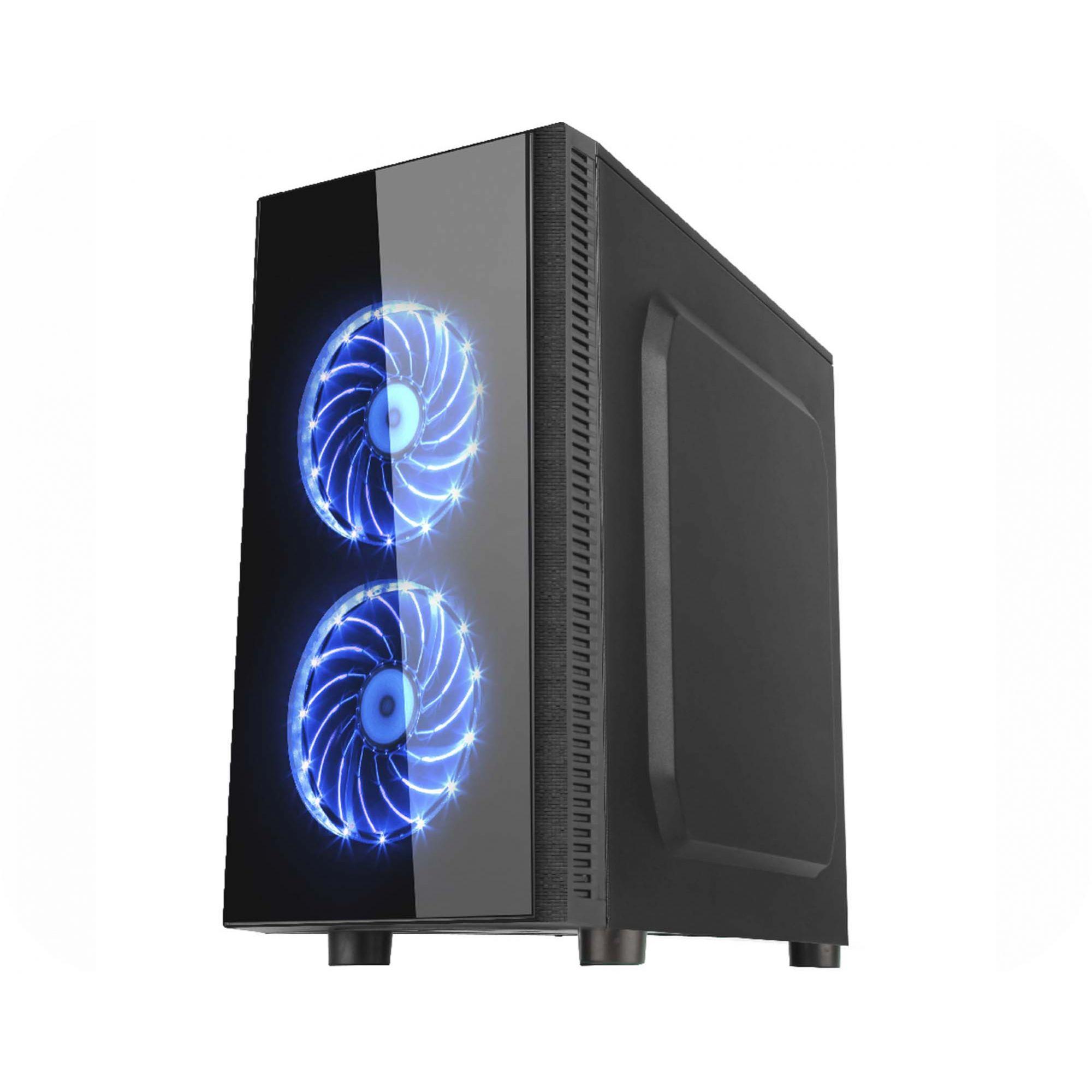 Gabinete Gamer k-mex Narnia CG-01RA Leds Azul