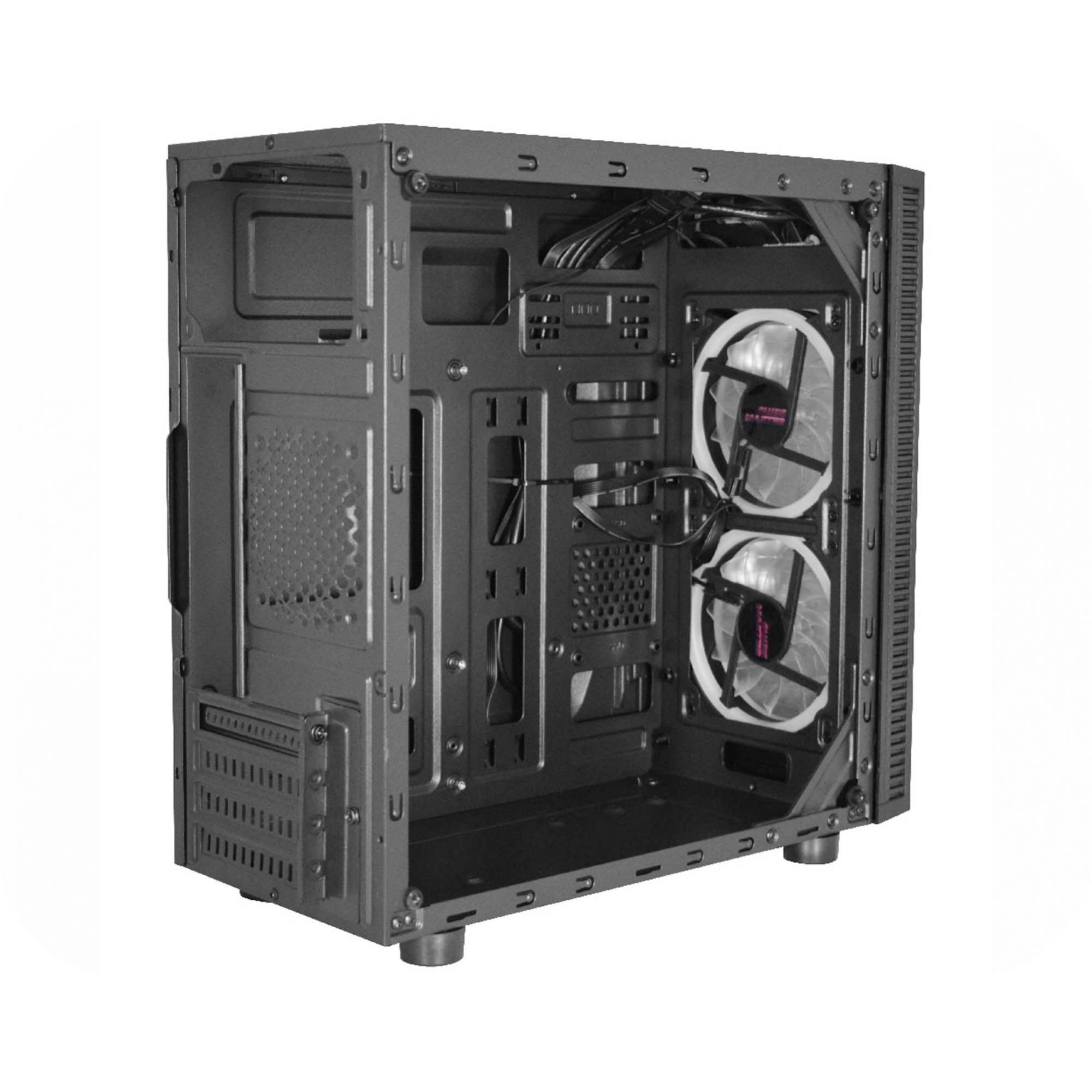 Gabinete Gamer k-mex Narnia III CG-03RA RGB C/Controle Frontal Preto