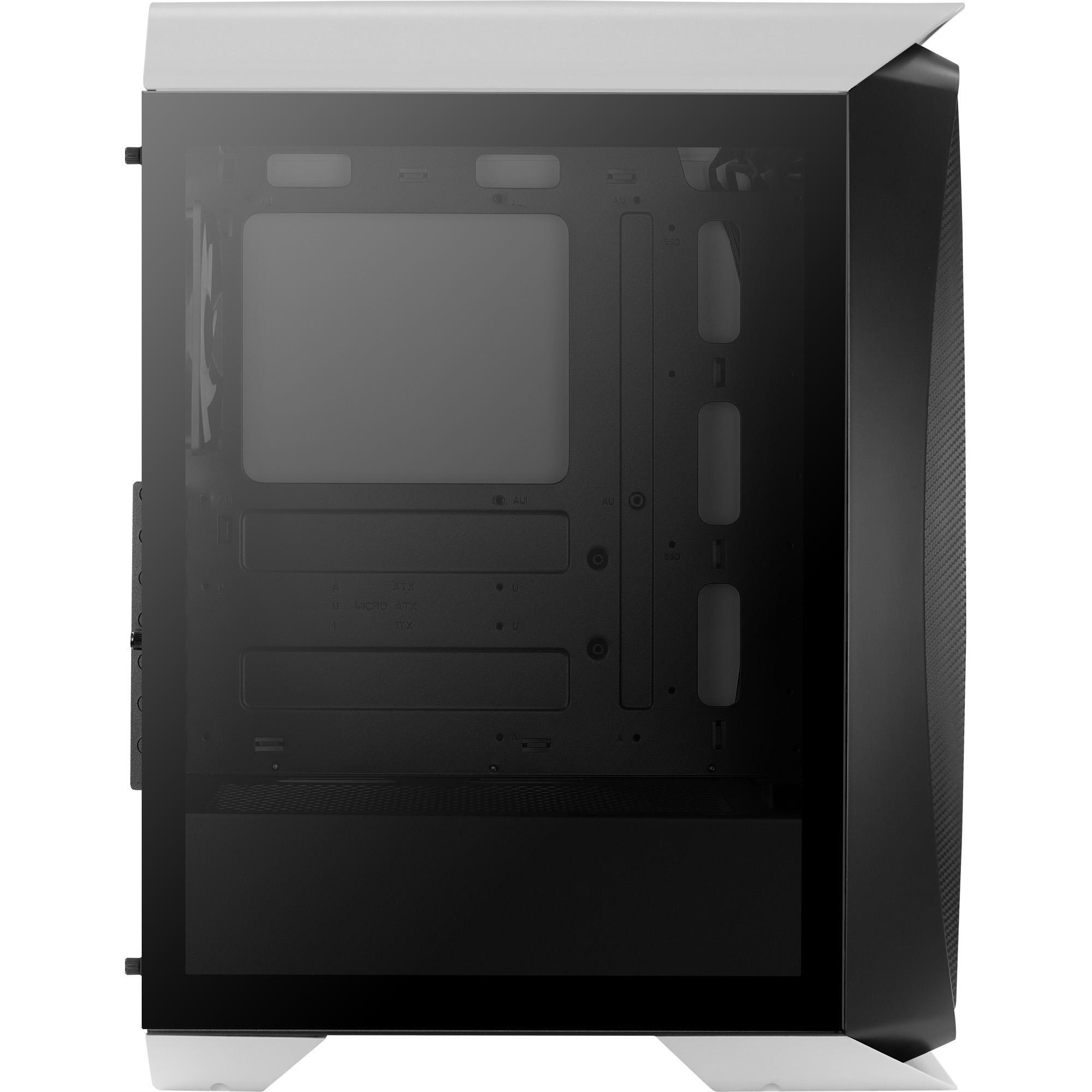 Gabinete Gamer Mid Tower RGB Aero One Frost Branco AEROCOOL