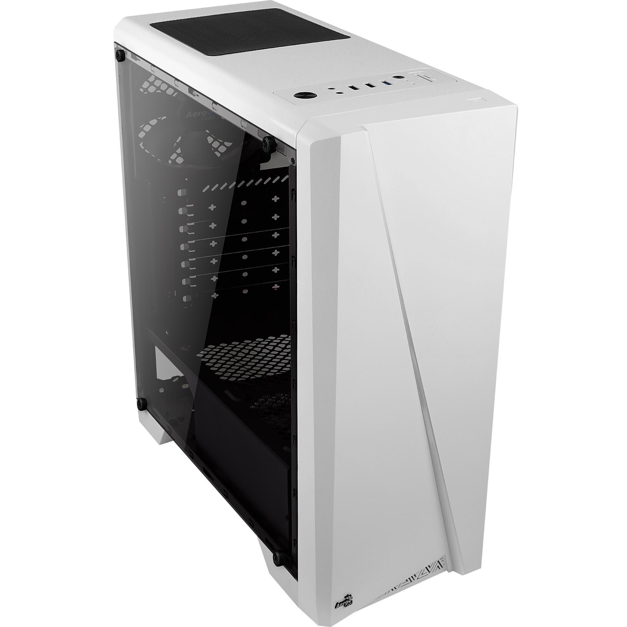 Gabinete Gamer Mid Tower RGB Cylon Branco AEROCOOL