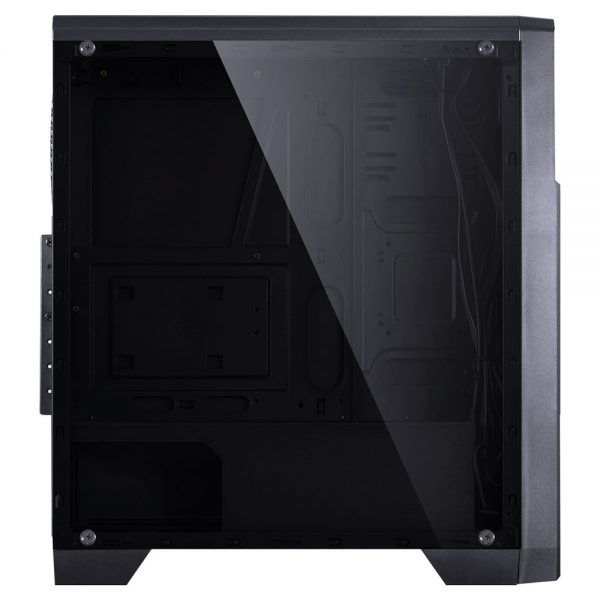 Gabinete Midtower Vx Gaming Lumia Full Window Fumê Led 7 Cores 09GALM7-3RGB