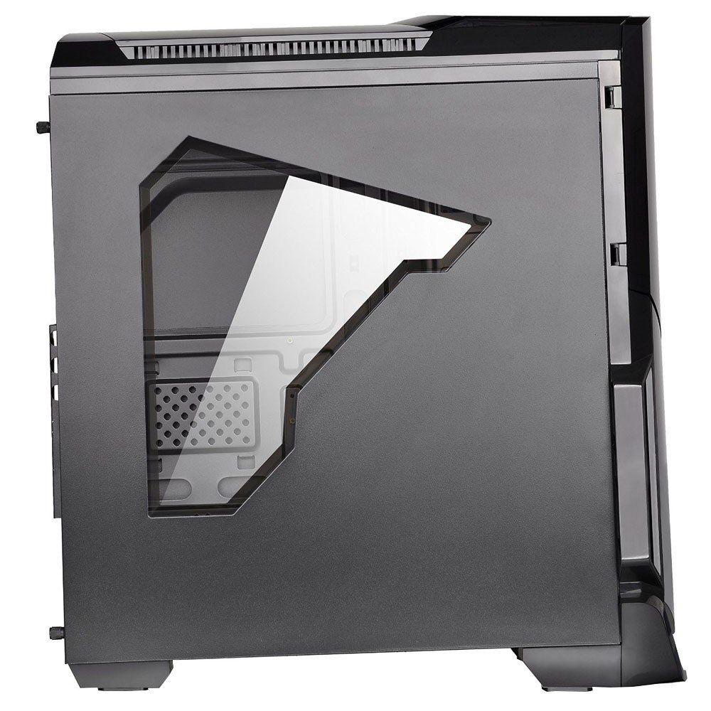 Gabinete Thermaltake TT Versa N21 BLACK/WIN/3*120MM RED LED FAN CA-1D9-00M1WN-07