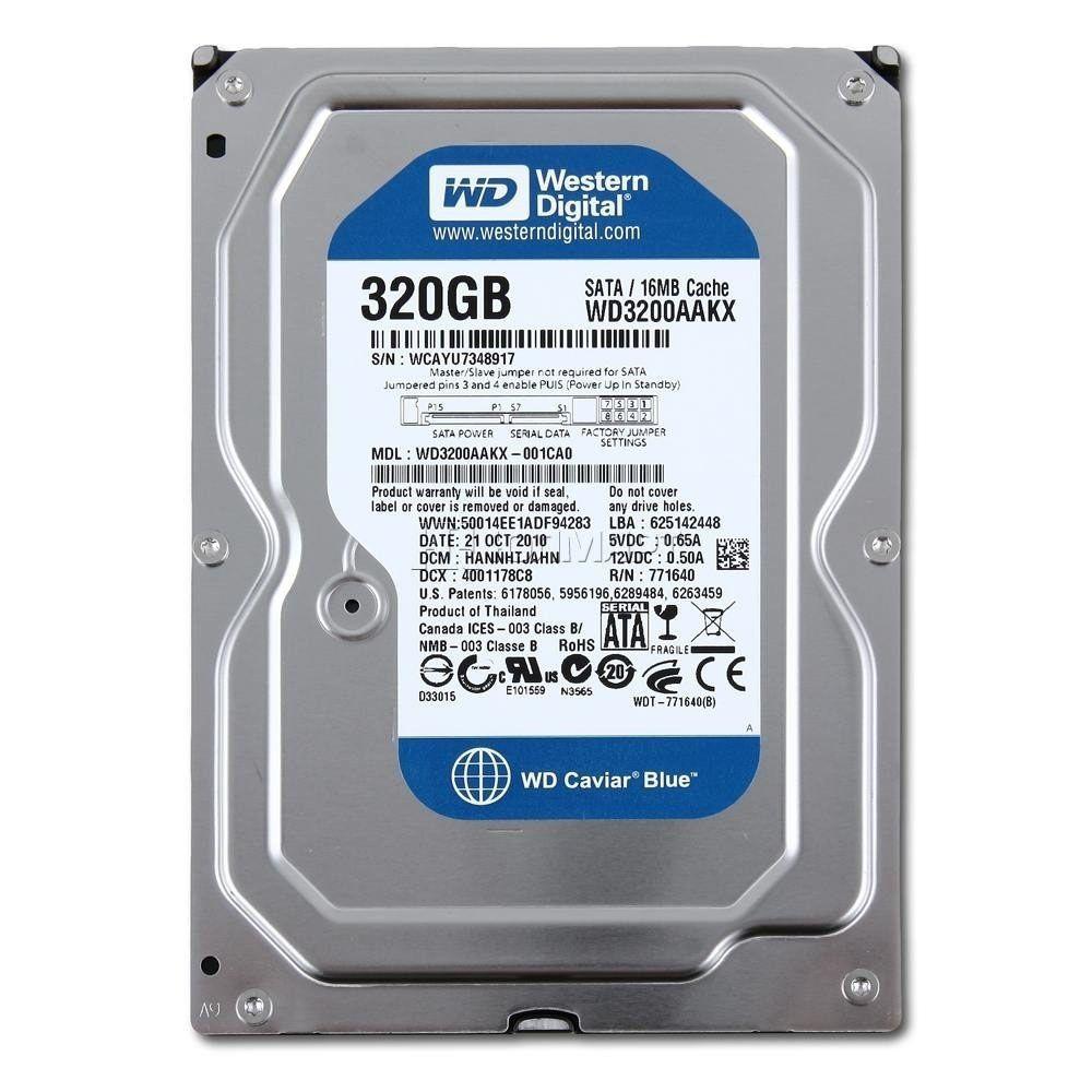 HD Desktop Western Digital 320GB Caviar Blue 7200RPM SATA PC WD3200AAKX RB