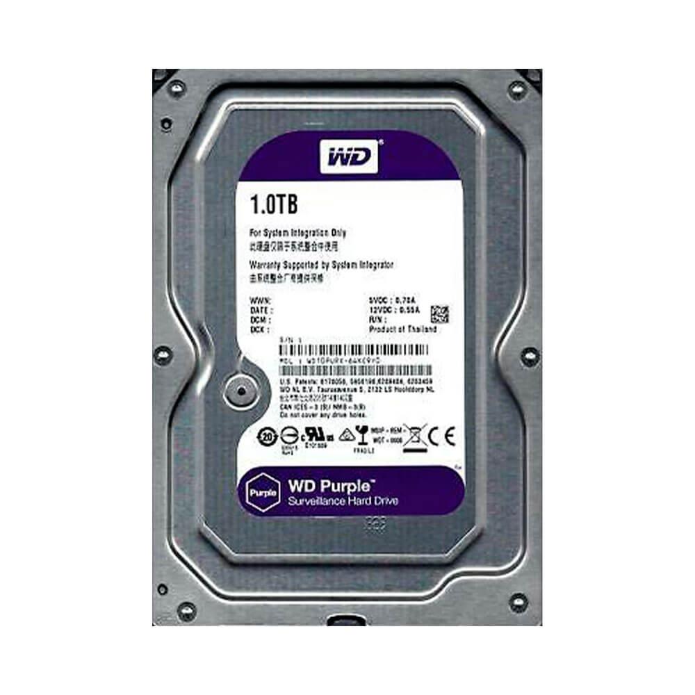 HDD WD 1tb Purple 7200RPM Sata 3 Wd10purx 64mb Intellipower