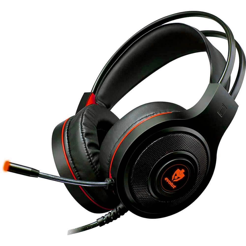 Headset Gamer Evolut Têmis EG-301R Vermelho