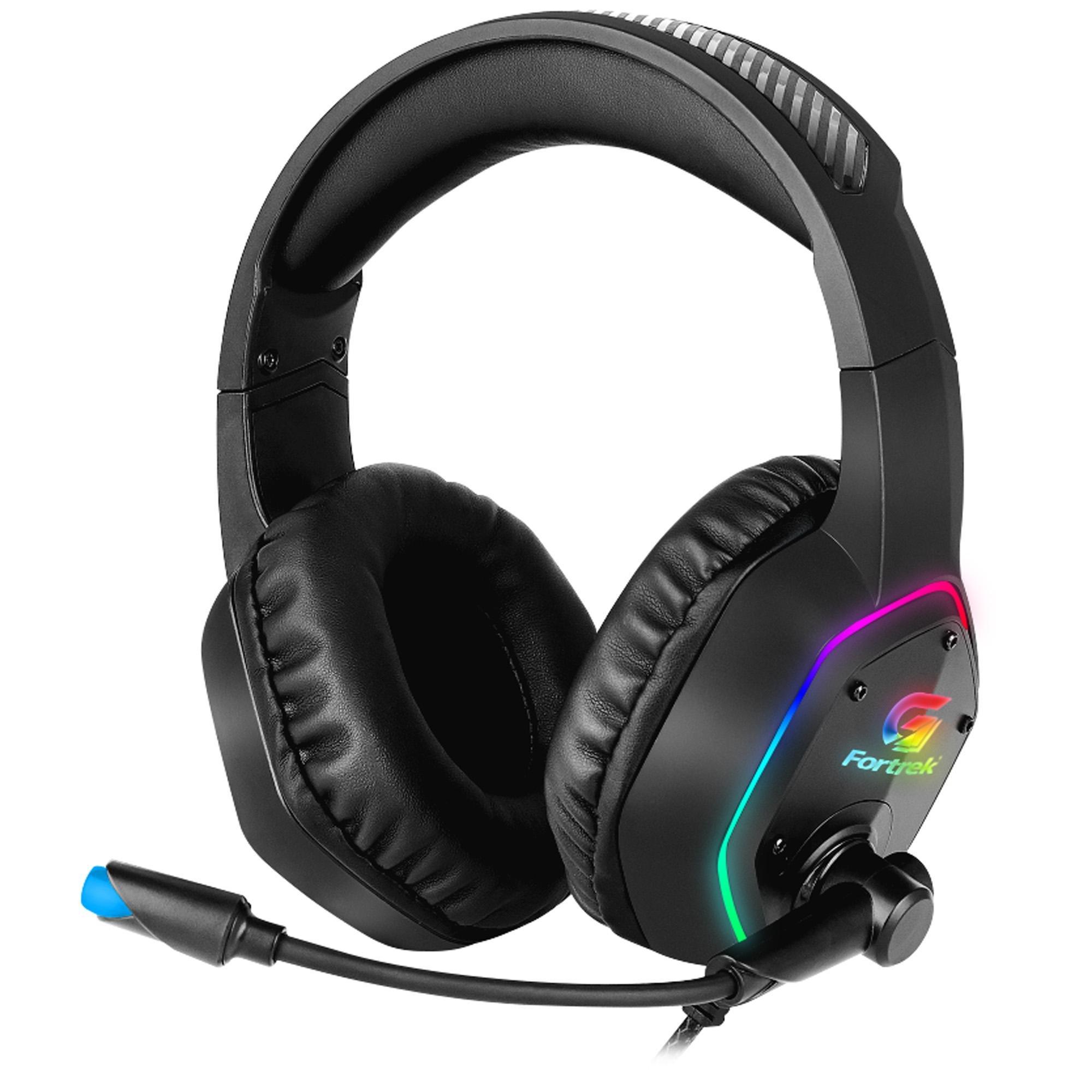 Headset Gamer RGB Blackfire Preto FORTREK