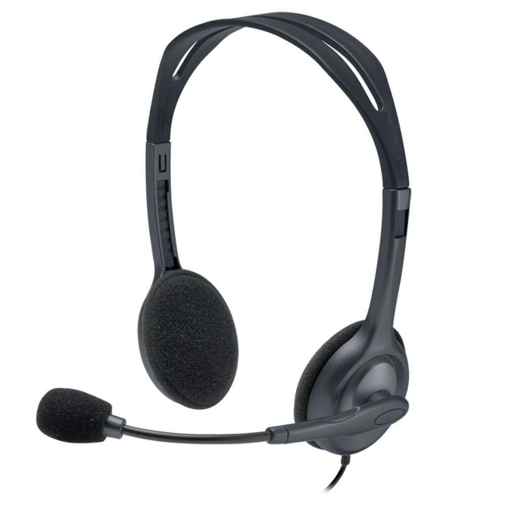 Headset Logitech H111 Stereo Preto P2