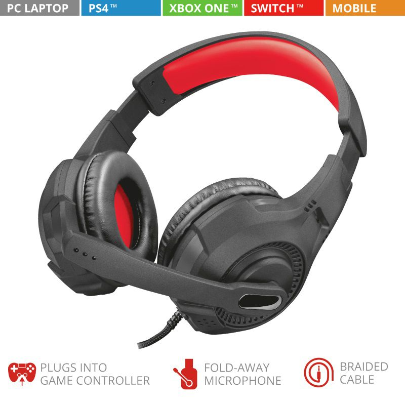 Headset Trust GXT 307 RAVU GAM HDST PS4 XBOX ONE PC