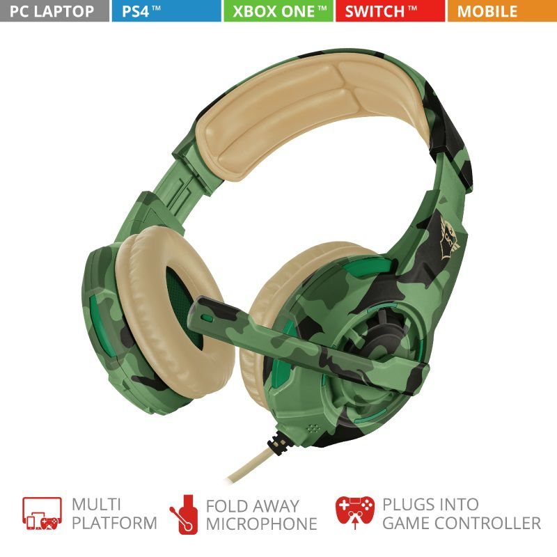 Headset Trust GXT 310C Radius Gaming Jungle Camo T22207