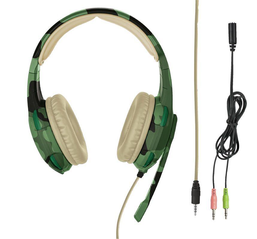 Headset Trust GXT 310C Radius Gaming Jungle Camo T22207