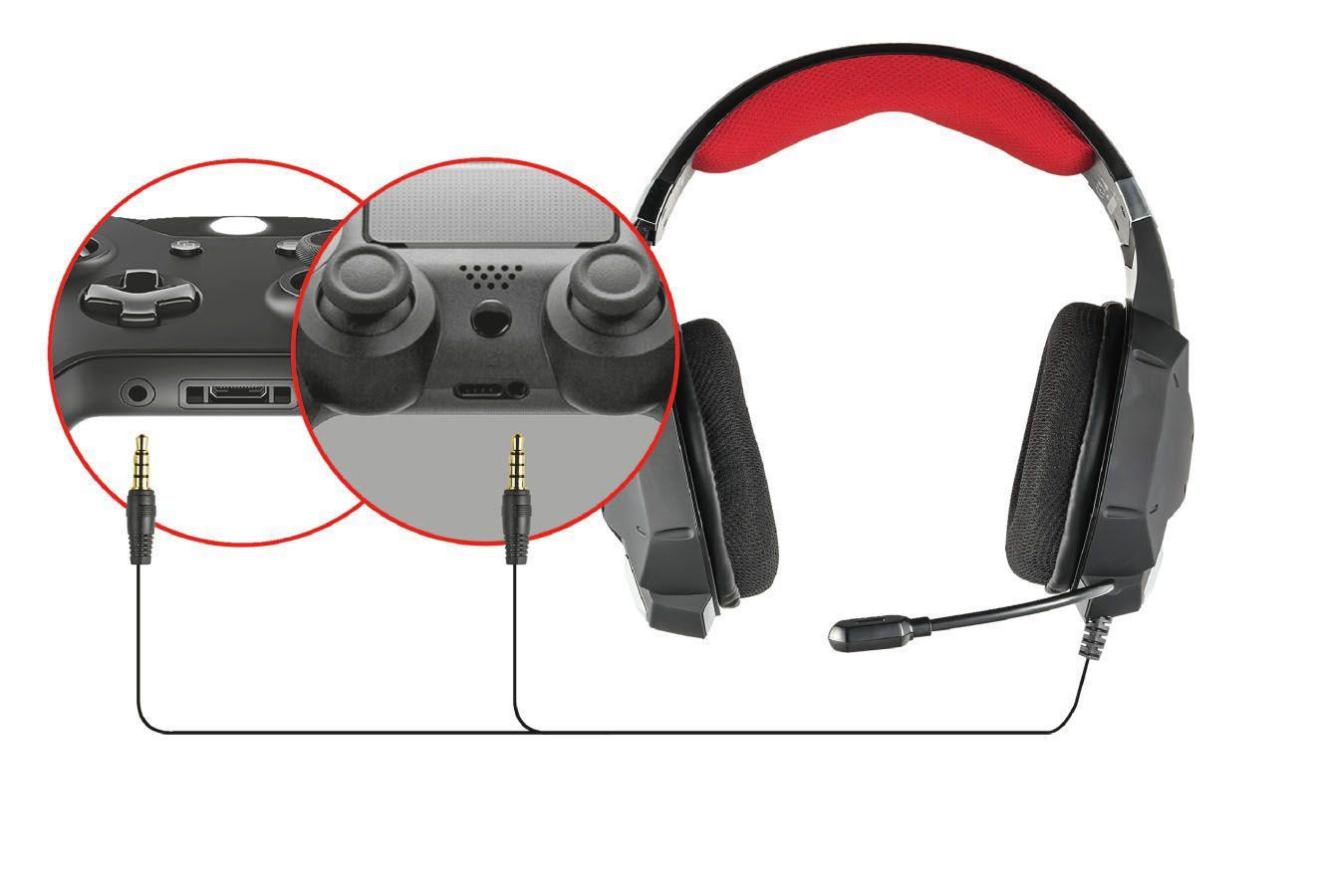 Headset Trust GXT 322 T20408 Carus Dynamic Black