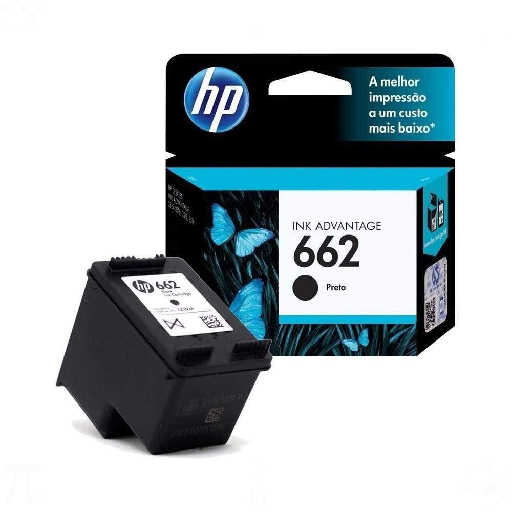 Kit Cartucho HP 662 Preto e Colorido