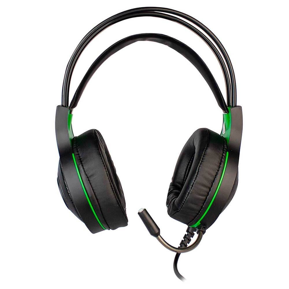 Kit Headset Evolut Têmis Verde + Cabo Adaptador