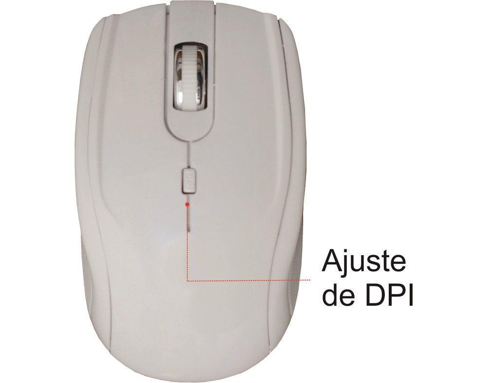 Kit Mouse e Teclado K-mex KA0228 + MAP334 sem fio Branco