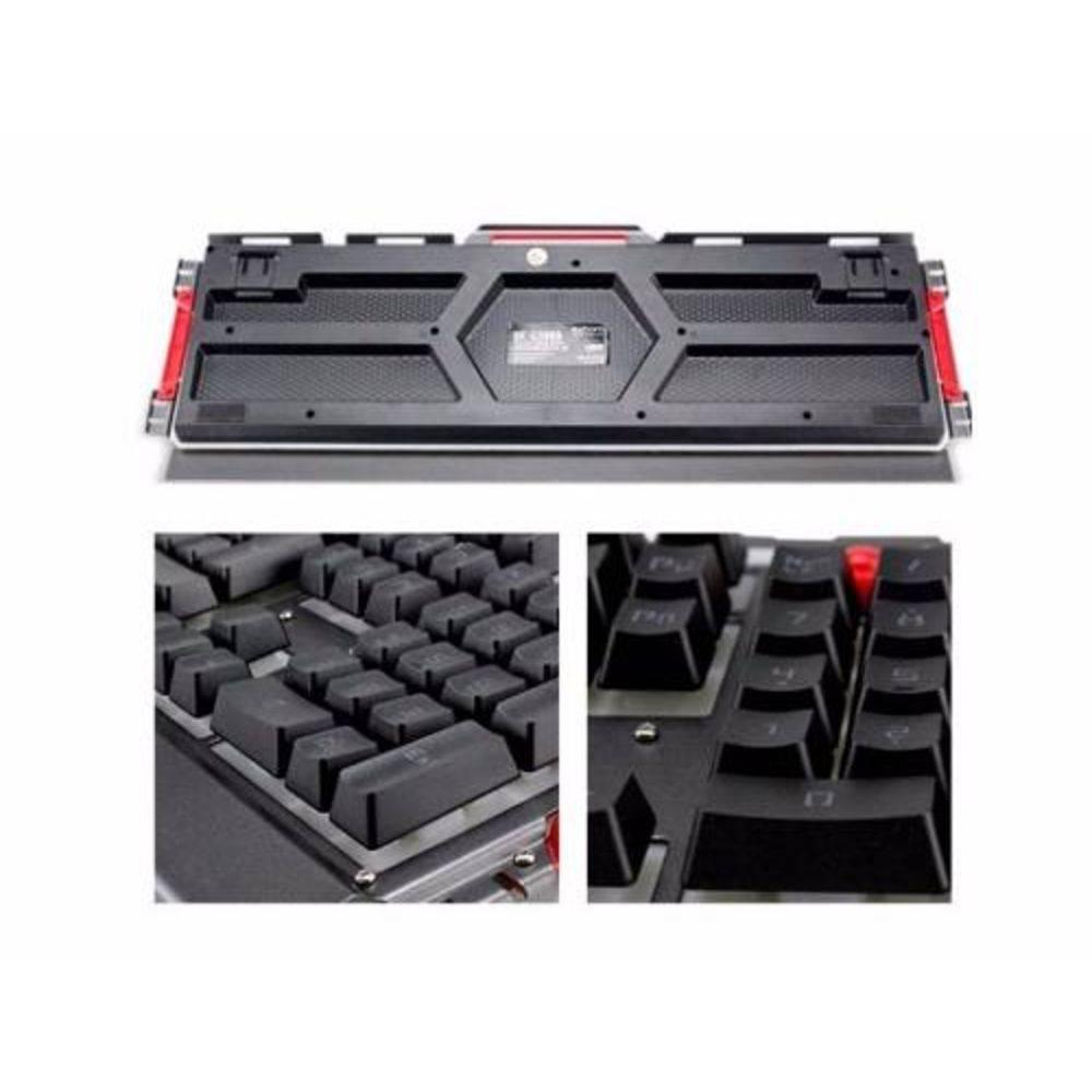 Kit Teclado e Mouse EXBOM Gamer Luz LED e Acabamento de Metal BK-G3000