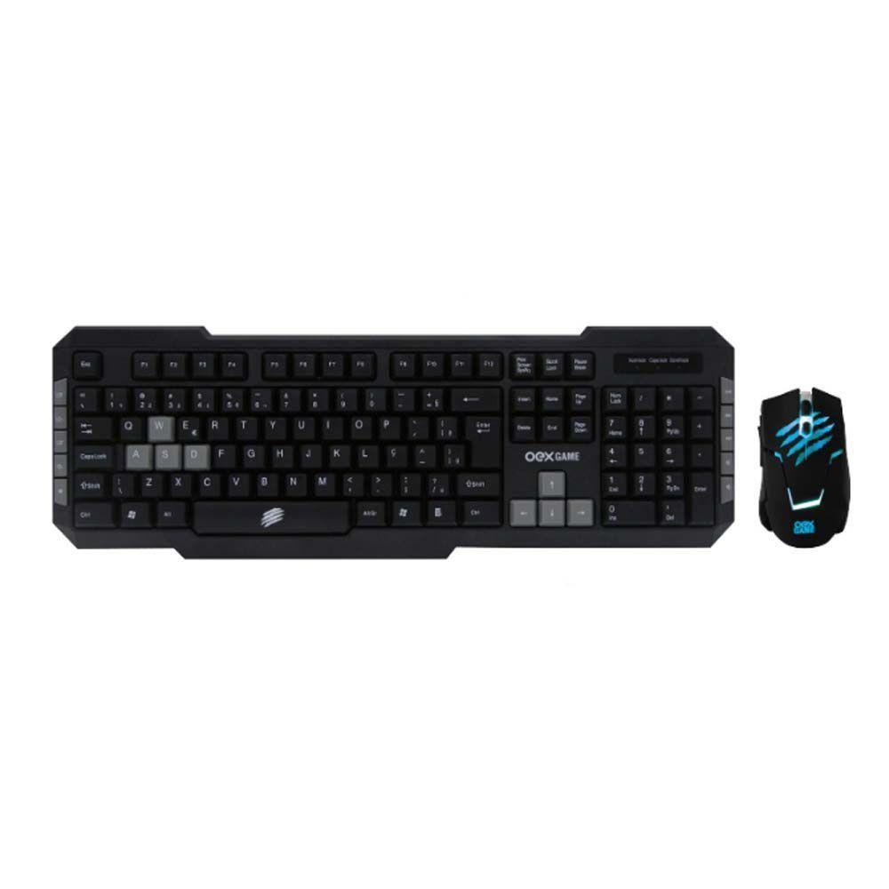 Kit Teclado e Mouse OEX Combo Brave TM303