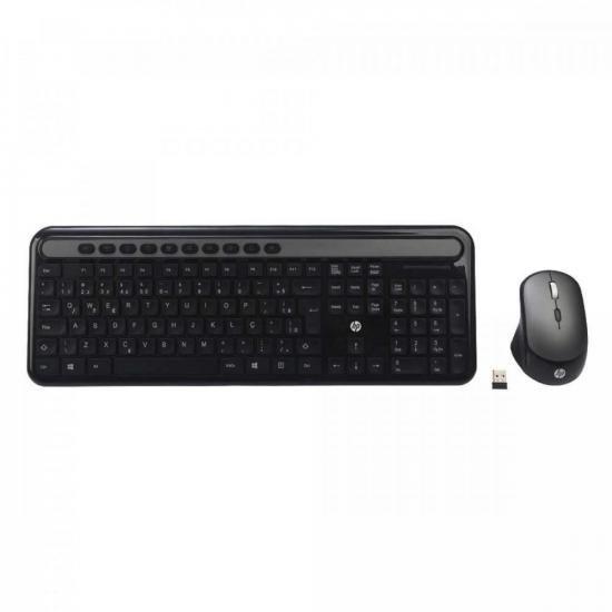 Kit Teclado e Mouse Sem Fio CS500 Preto HP