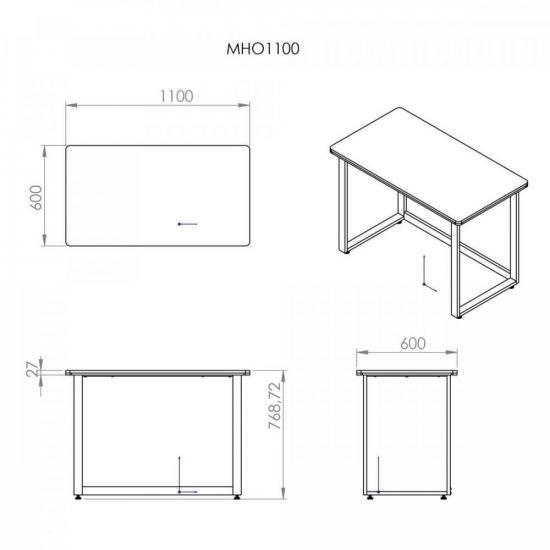 Mesa Office MHO 1100 Venezuela- borda 27mm
