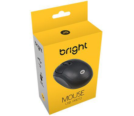 Mouse Bright Standart USB Preto 0106