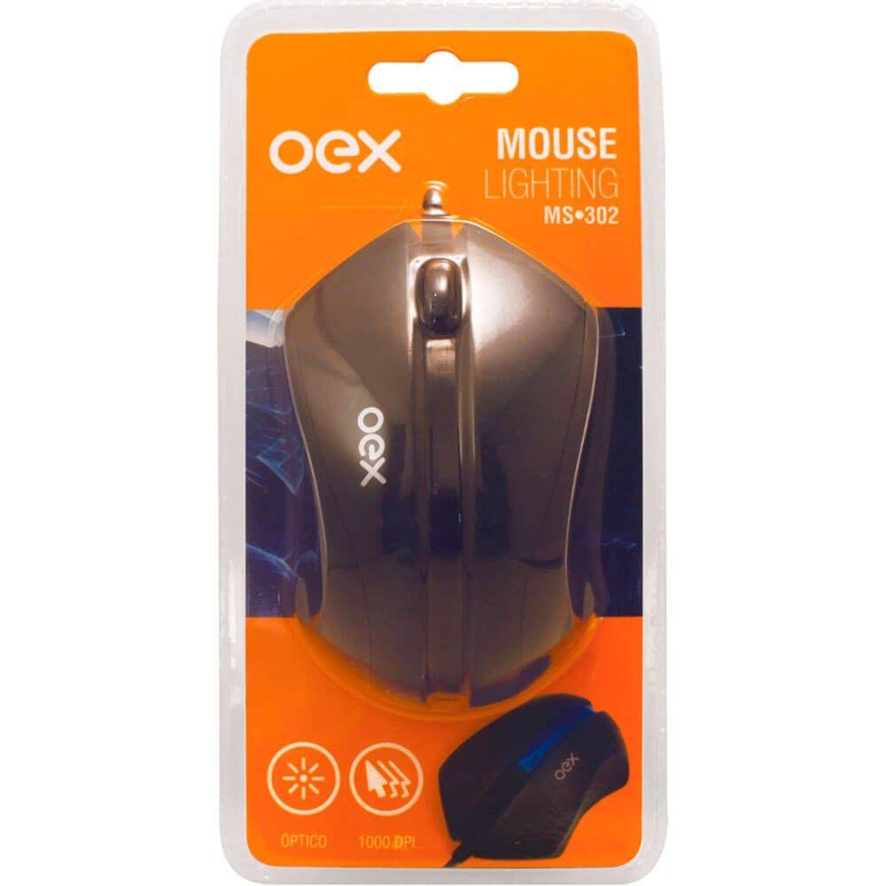 Mouse OEX Optico Usb Lighting MS302