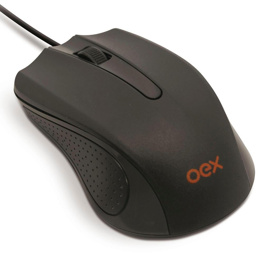 Mouse OEX Optico Usb Standard MS100 Cor:Preto