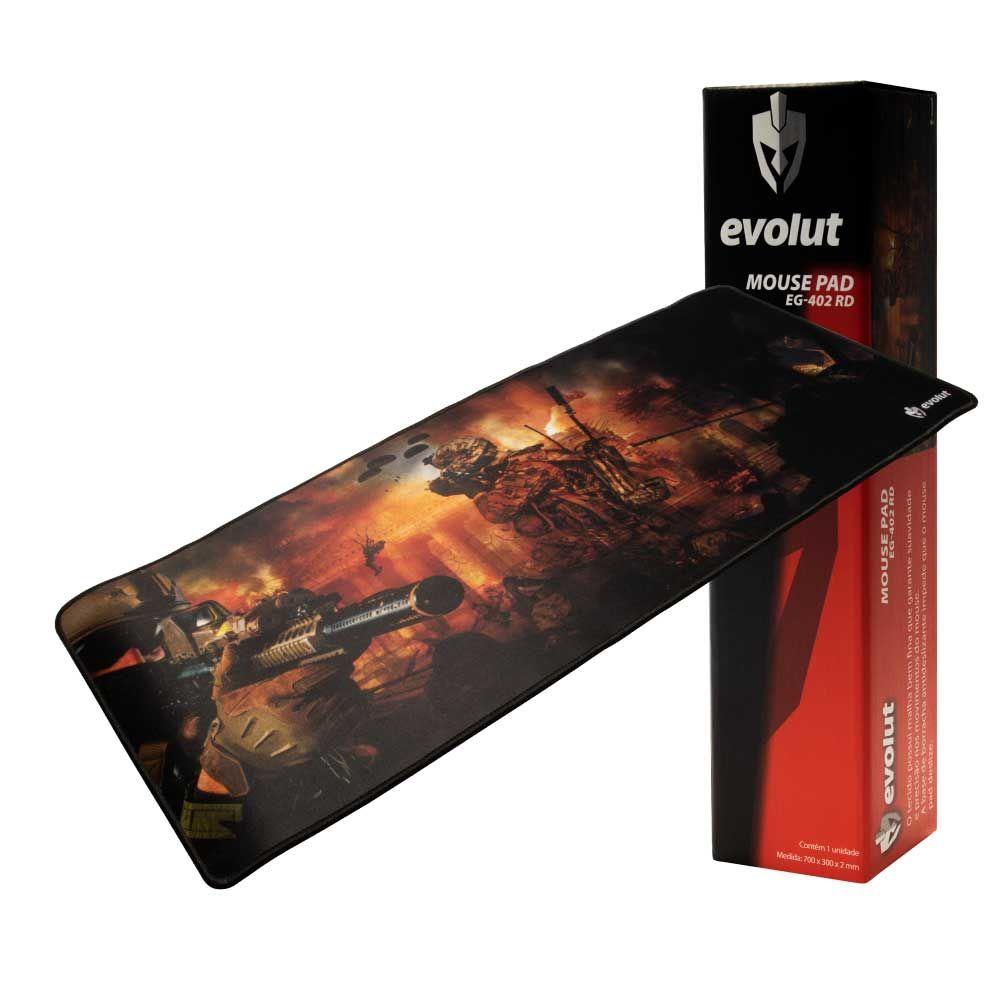 Mouse pad Gamer Evolut OUTLET EG-402 RED 700X300X2MM/HV-MP861