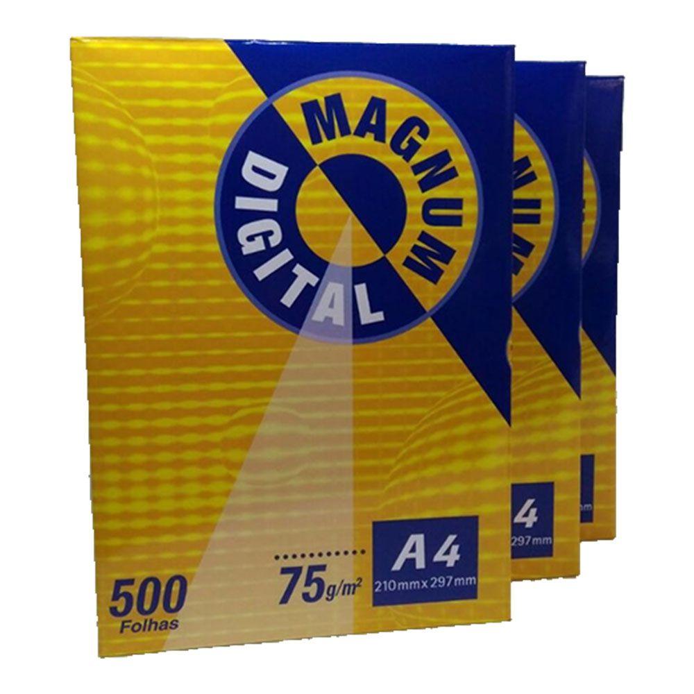 Papel Magnum A4 75g Pct 500fl Suzano