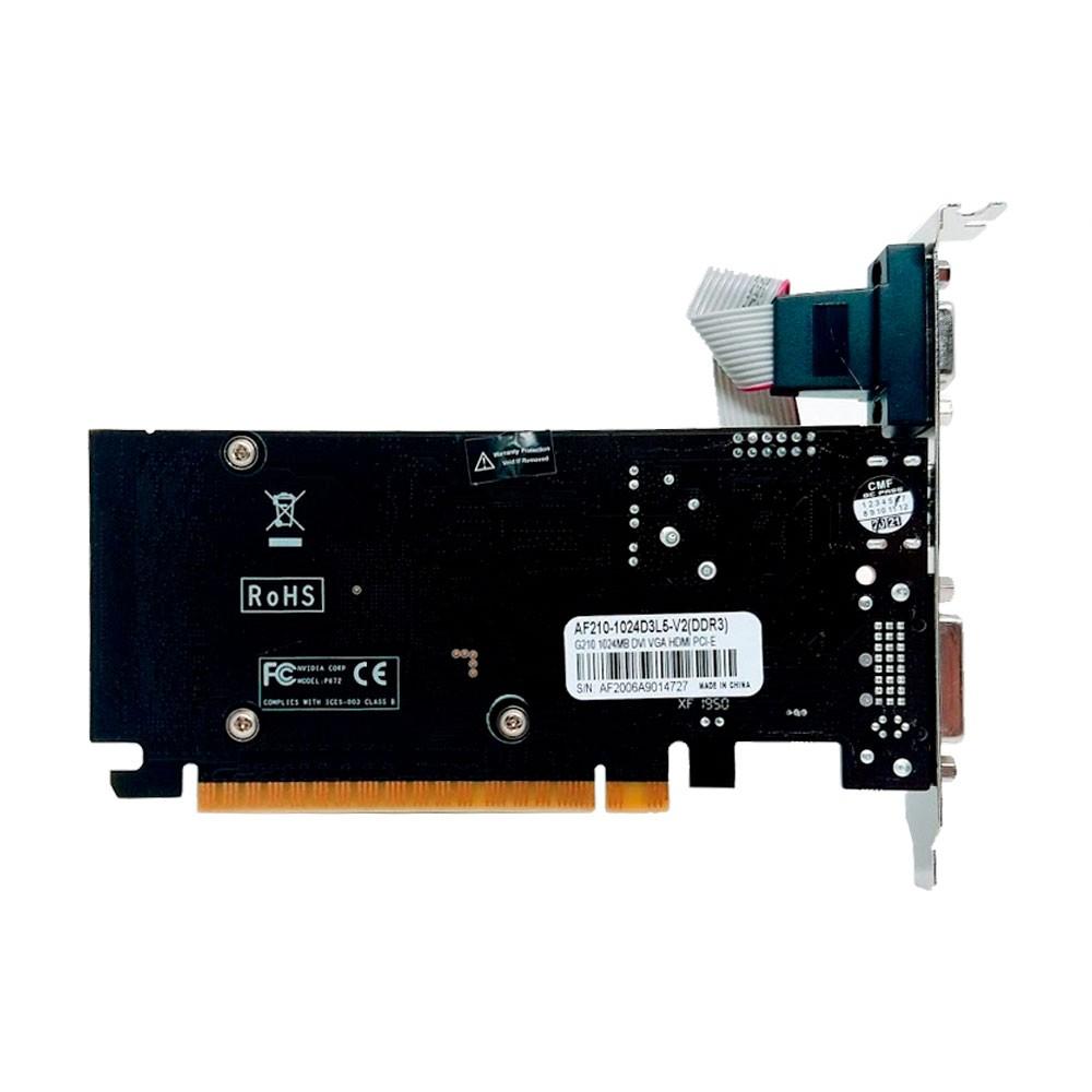 Placa de Video AFOX NVidia G210 1GB DDR3 LowProfile D3L5-V2